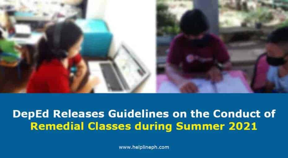 Remedial Classes during Summer 2021