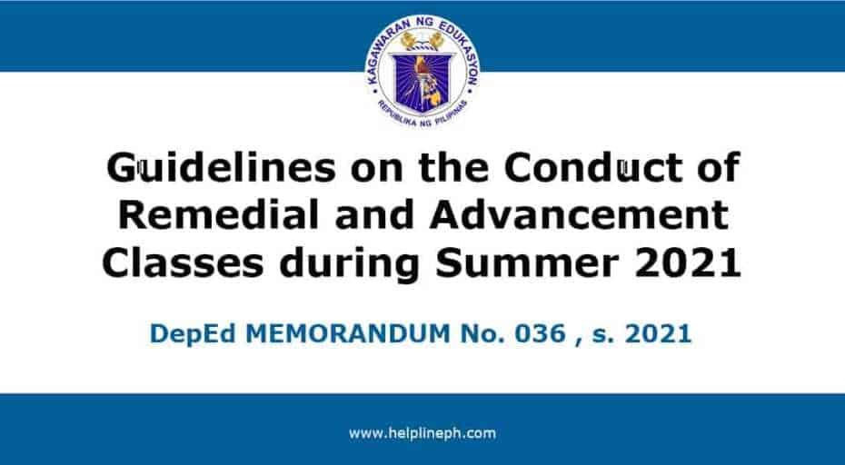 Conduct of Remedial and Advancement Classes
