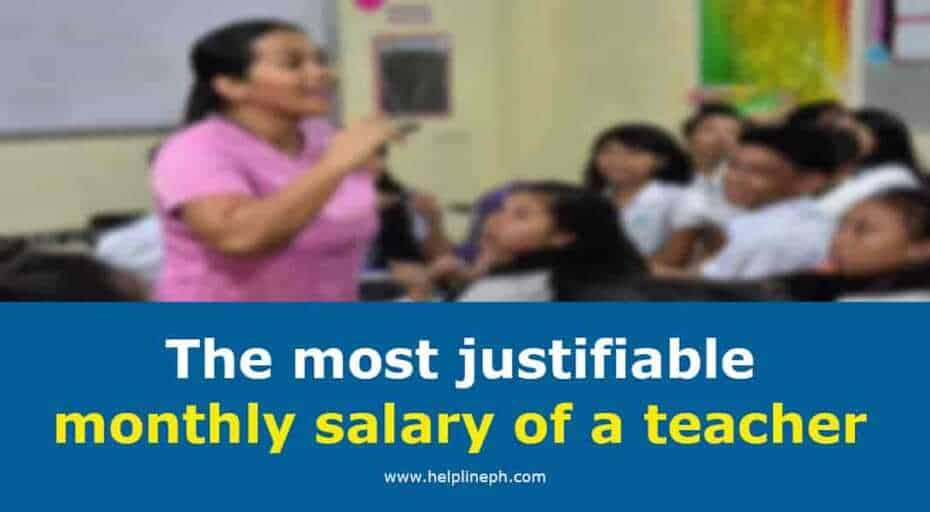most justifiable monthly salary of a teacher