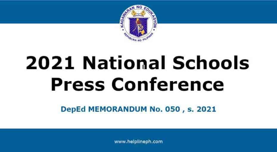 2021 National Schools Press Conference