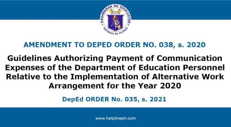 Authorizing Payment of Communication Expenses